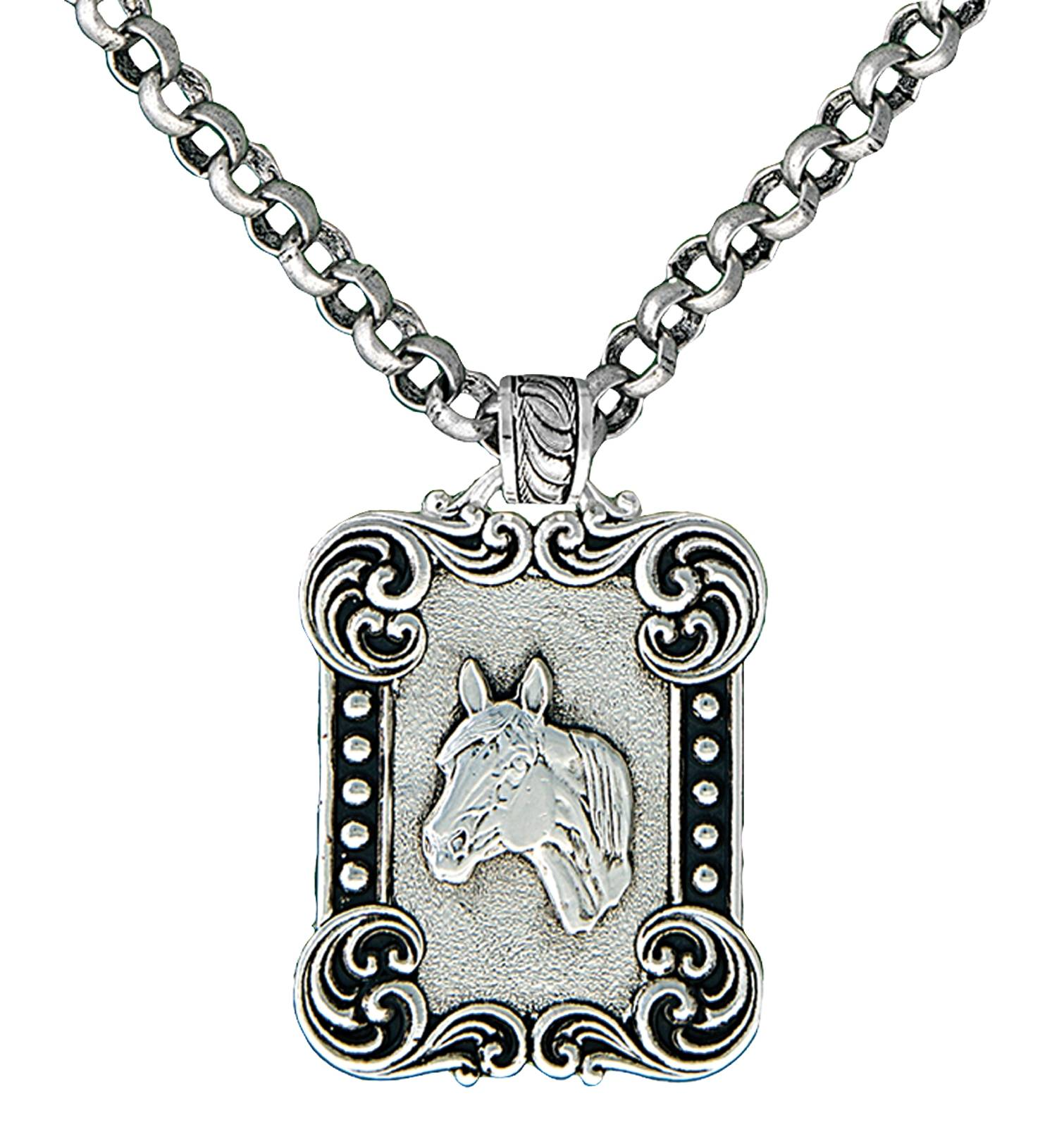 Montana Silversmiths Western Deco Rider's Cameo Necklace