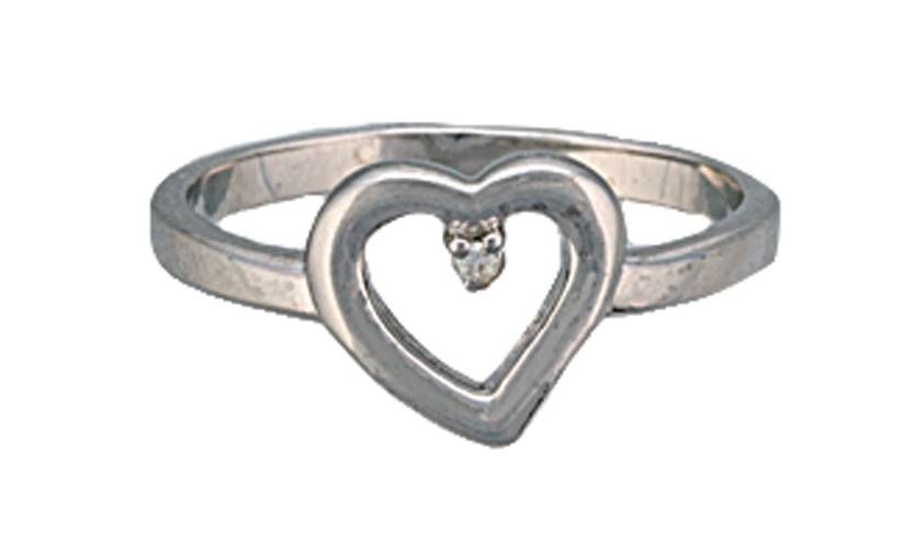 Montana Silversmiths Heart Set on You Silver Ring