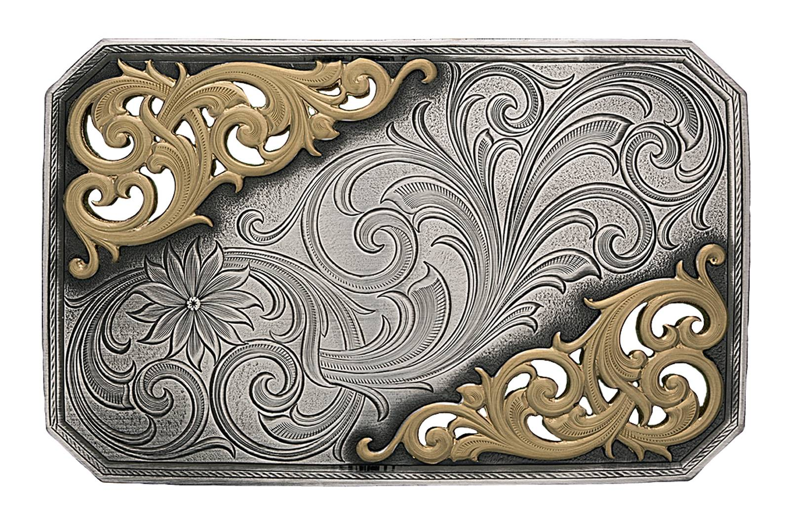 Montana Silversmiths New Classic Mountain Trail Belt Buckle