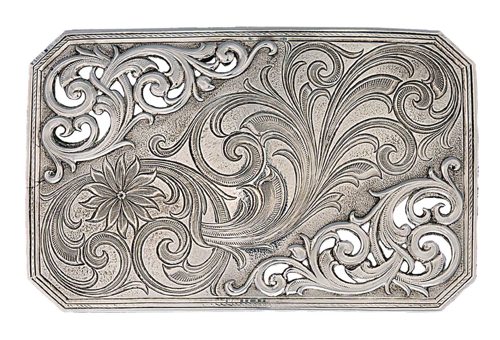 Montana Silversmiths Antiqued Silver Mountain Trail Belt Buckle