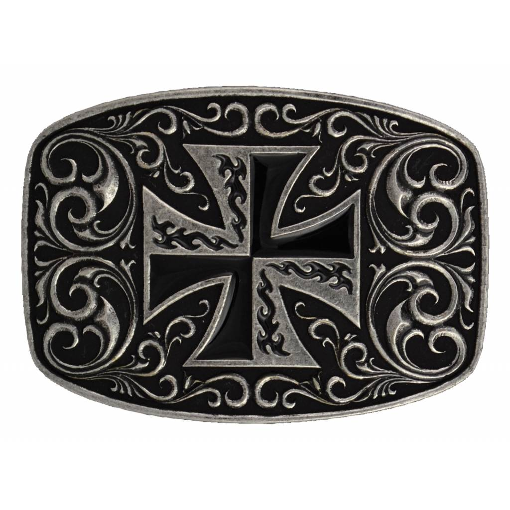 Montana Silversmiths Iron Cross Coat of Arms Attitude Buckle
