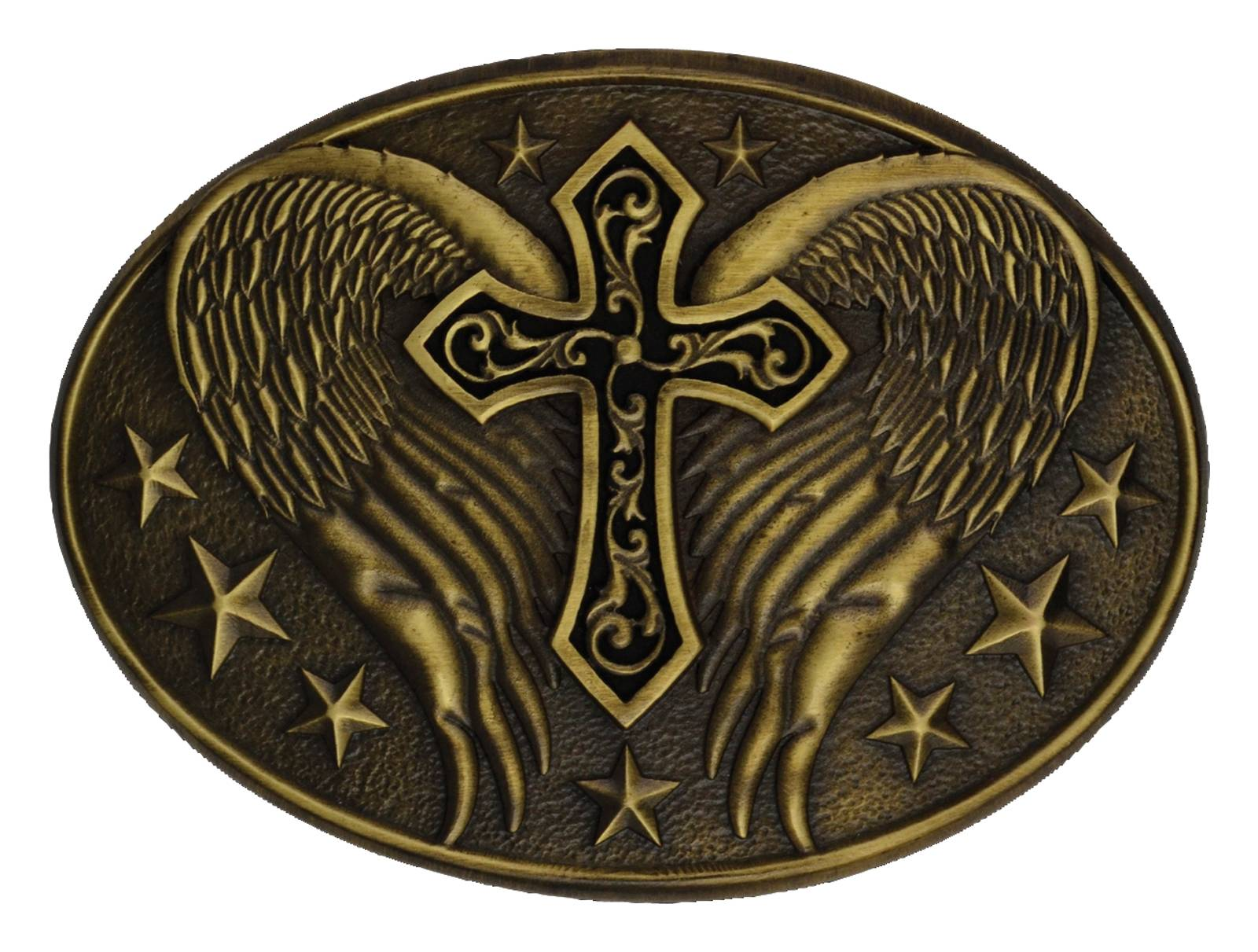 Montana Silversmiths Winged Cross Heritage Attitude Belt Buckle