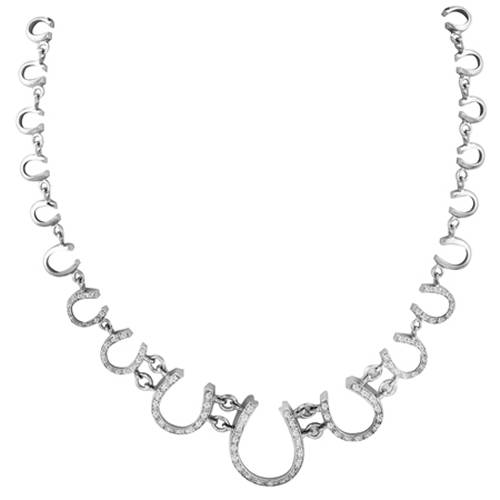 Kelly Herd .925 Sterling Silver Horseshoe Necklace