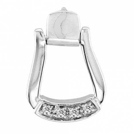 Kelly Herd .925 Sterling Silver Oxbow Stirrup Pendant Small