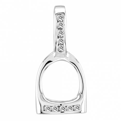 Kelly Herd .925 Sterling Silver Small English Stirrup Pendant