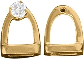 Kelly Herd 14K Gold English Stirrup Earring Jackets
