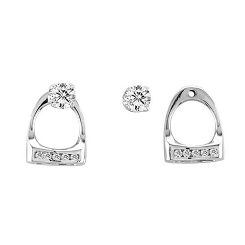 Kelly Herd .925 Sterling Silver Small English Stirrup Earring Jackets