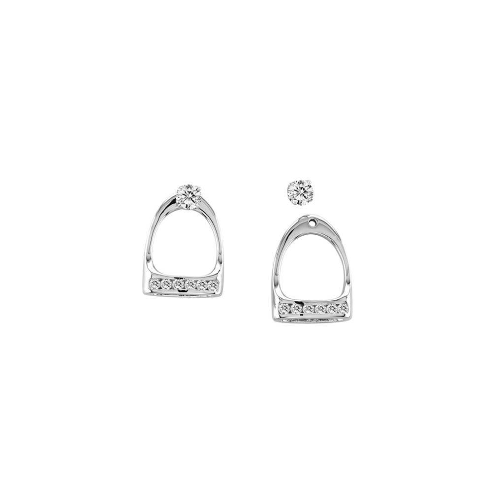 Kelly Herd .925 Sterling Silver English Stirrup Earrings