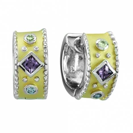 Kelly Herd .925 Sterling Silver Yellow Multi Stone Earrings