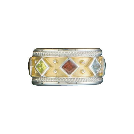Kelly Herd .925 Sterling Silver Yellow Multi Stone Ring