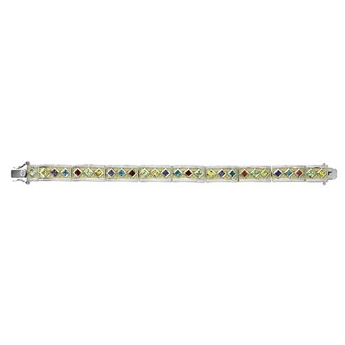 Kelly Herd .925 Sterling Silver Yellow Multi Stone Bracelet