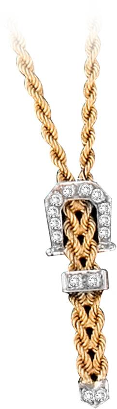 Kelly Herd 14K Gold Braided Rope Buckle Necklace