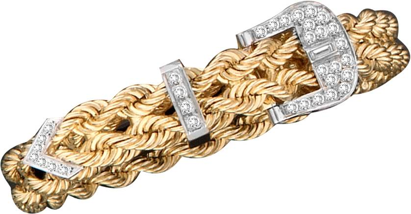 Kelly Herd 14K Gold Adjustable Braided Rope Bracelet