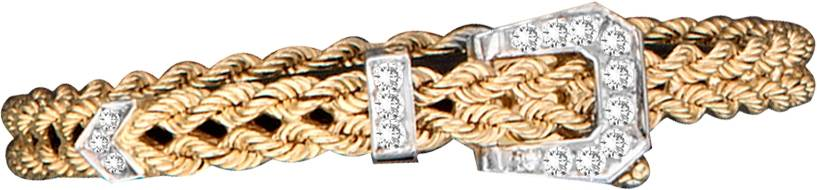 Kelly Herd 14K Gold Braided Rope Buckle Bracelet