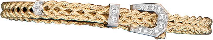 Kelly Herd 14K Gold Thin Braided Rope Buckle Bracelet
