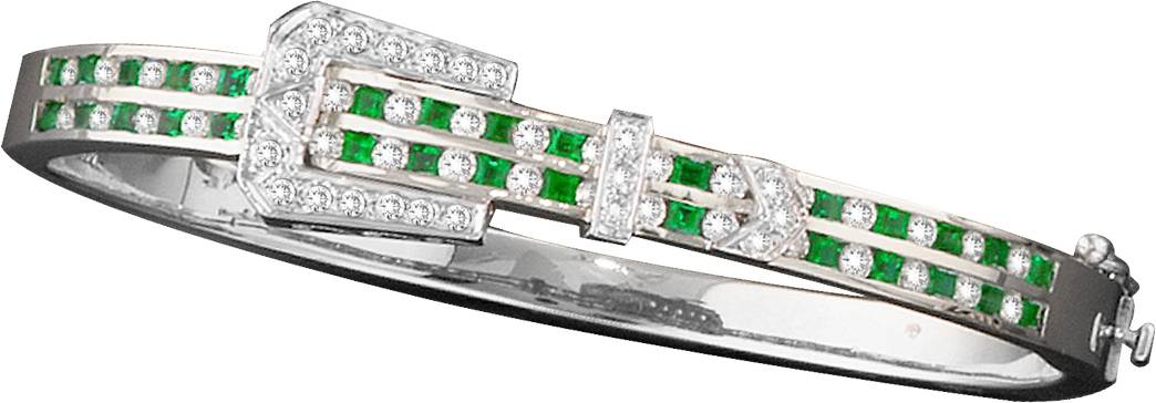 Kelly Herd 14K Gold Emerald and Diamond Bracelet