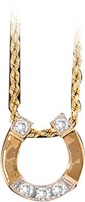 Kelly Herd 14K Gold Horseshoe Pendant