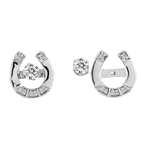 Kelly Herd .925 Sterling Silver Exquisite Horseshoe Earrings