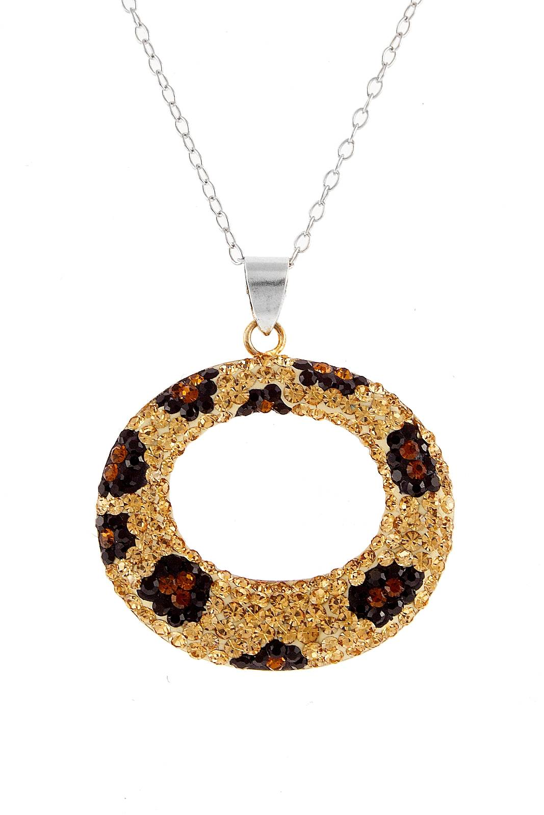 Kelly Herd .925 Sterling Silver Cheetah Collection Circle Pendant