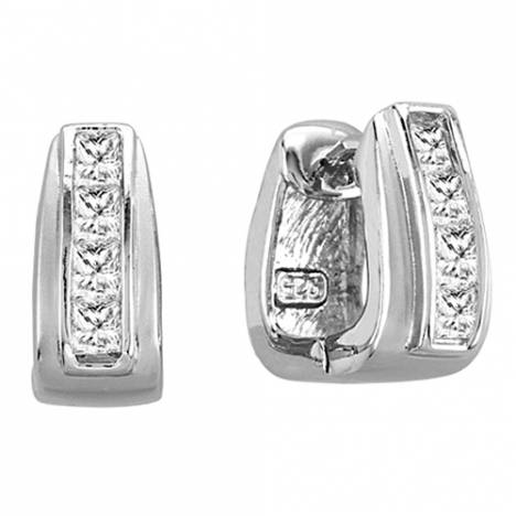 Kelly Herd .925 Sterling Silver Stirrup Earrings
