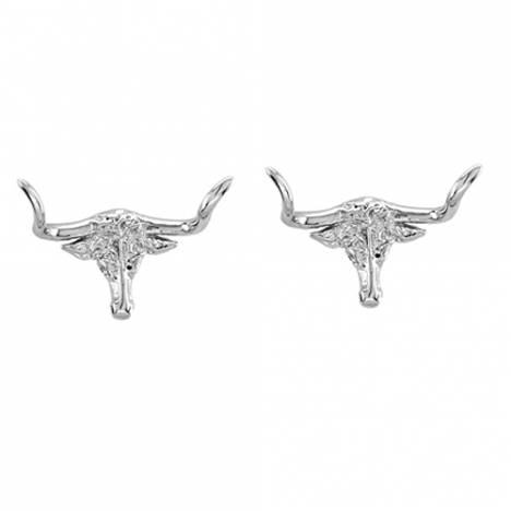Kelly Herd .925 Sterling Silver Longhorn Earrings