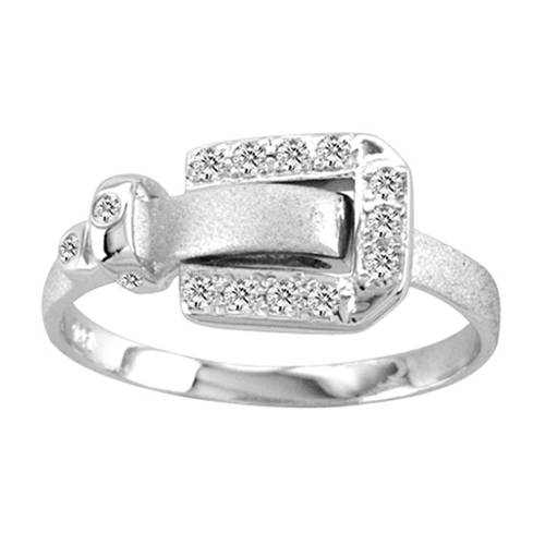 Kelly Herd .925 Sterling Silver Bling and Buckle Ring