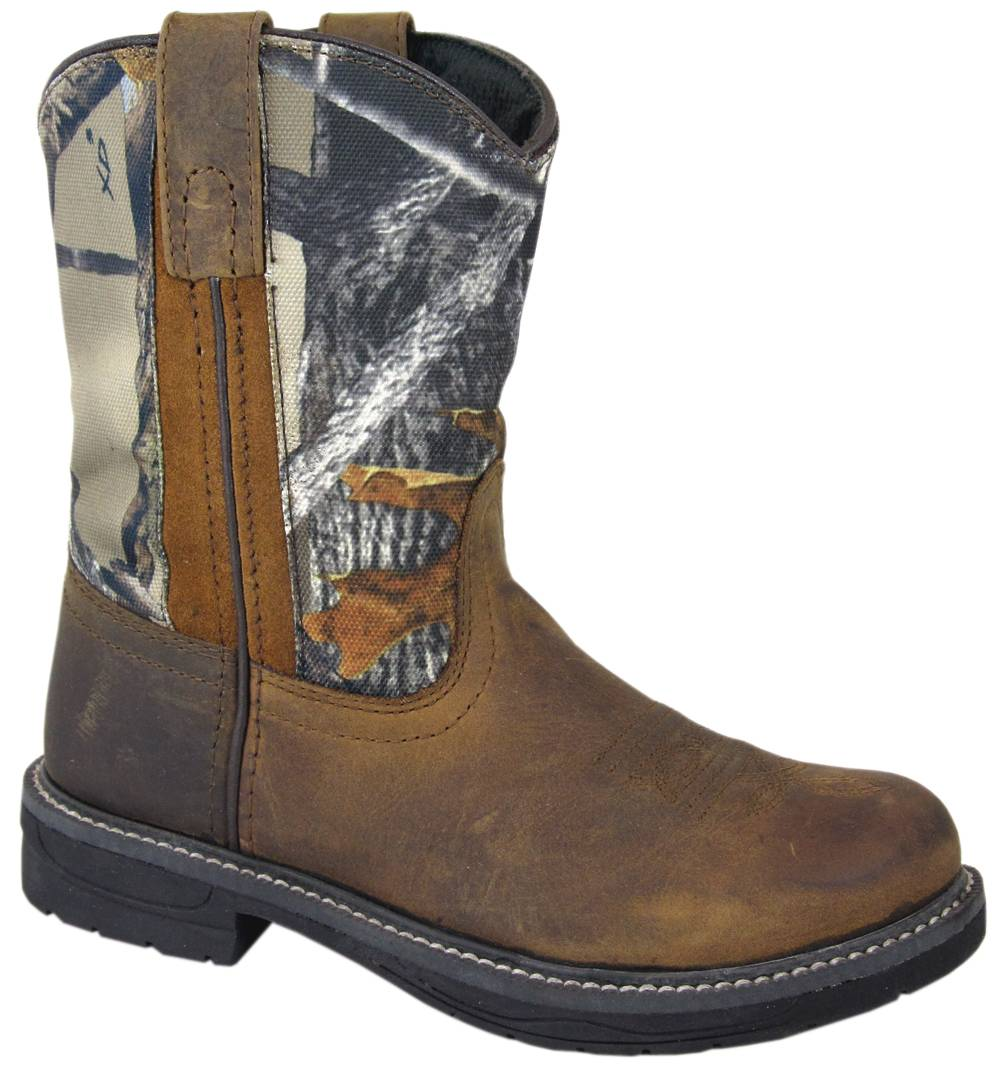 Smoky Mountain Kids Buffalo Camo Leather Wellington Boot