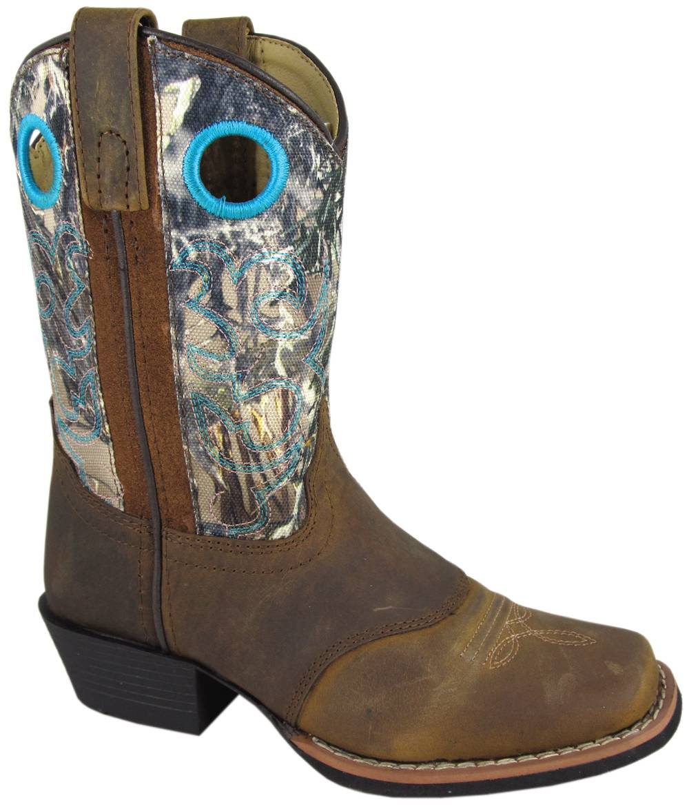 Smoky Mountain Youth Sedona Camo Leather Western Boot