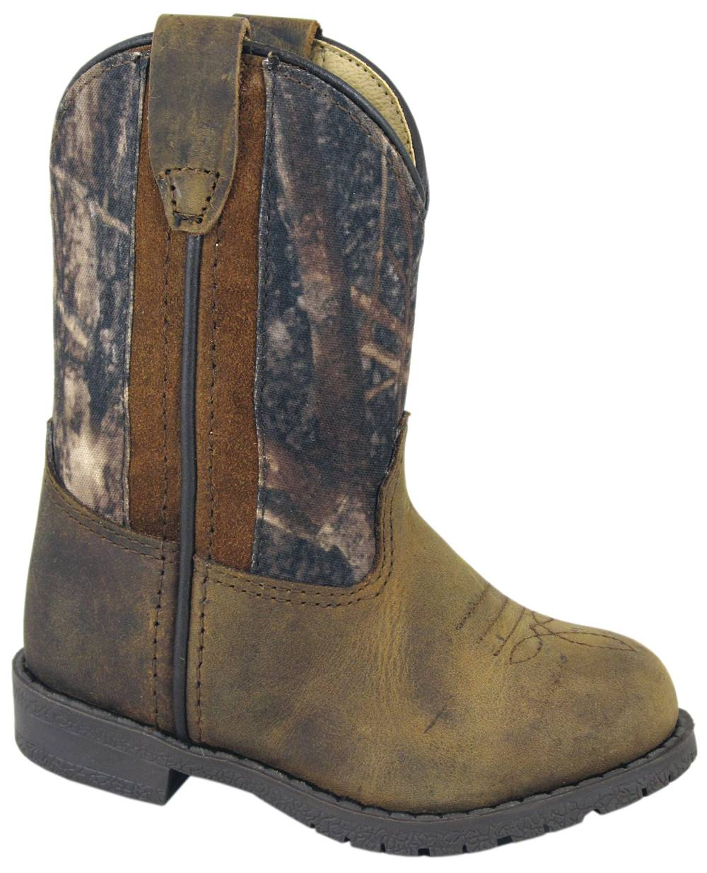 Smoky Mountain Toddlers Camo Hopalong Leather Boots