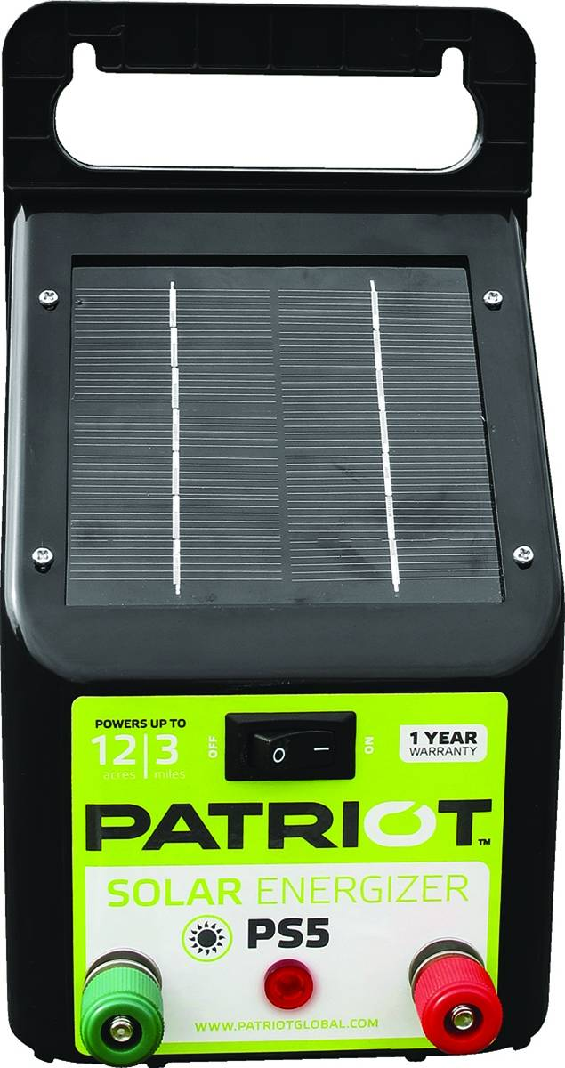 Patriot PS5 Solar Fence Energizer