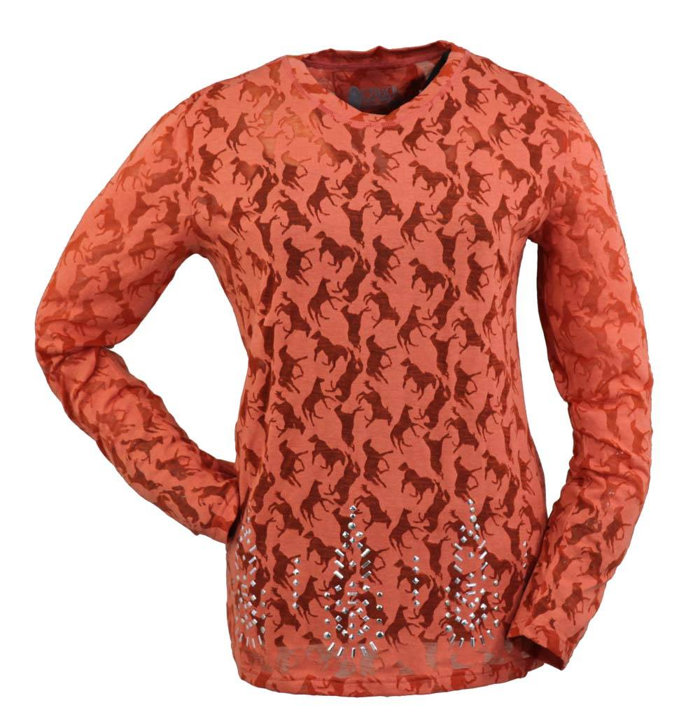 Outback Trading Lilly Studded B/O Tee