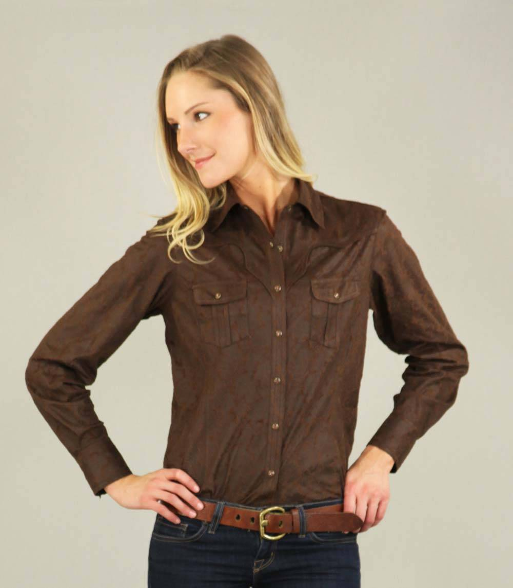 Outback Trading Sabrina Faux Leather Shirt