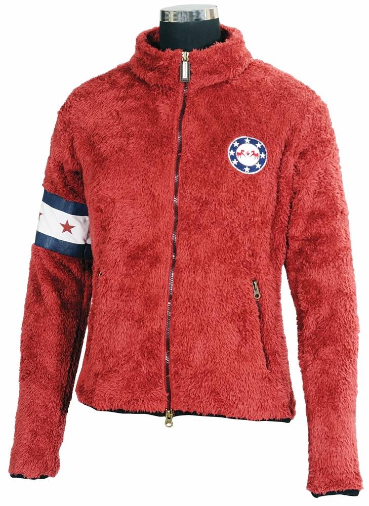 Equine Couture Stars & Stripes High Pile Fleece Jacket Ladies
