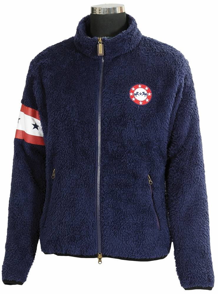 Equine Couture Stars & Stripes High Pile Fleece Jacket Kids