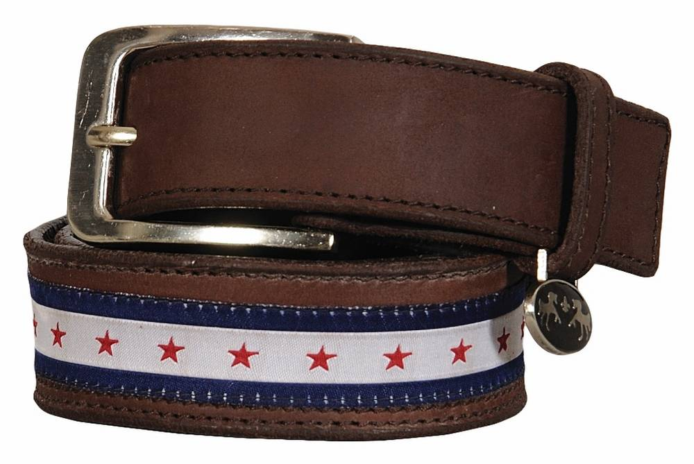 Equine Couture Stars & Stripes Leather Belt