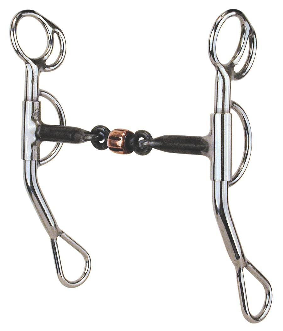 REINSMAN Stage C Reining Horse Snaffle With Copper Roller