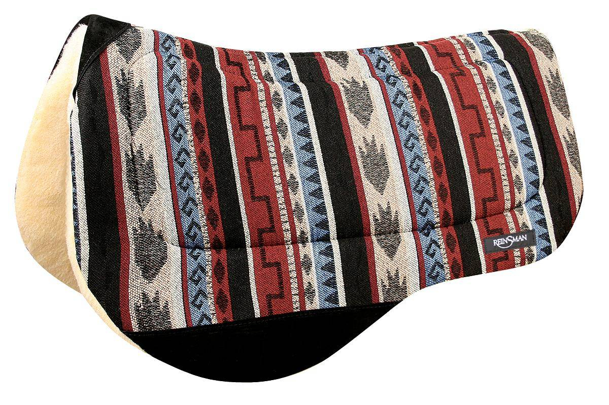 REINSMAN Contoured Trail Herculon Pad - Fleece - Diablo Red Print