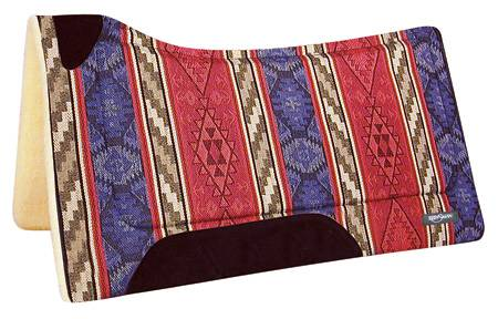REINSMAN Square Fleece Contour Herculon Pad - Diablo Red Print
