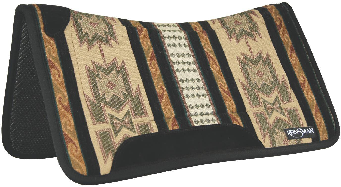 REINSMAN Square Fleece Contour Herculon Pad - Lodge Trail Beige Print