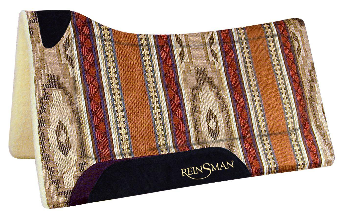 REINSMAN Square Fleece Contour Herculon Pad - Apache Red Print
