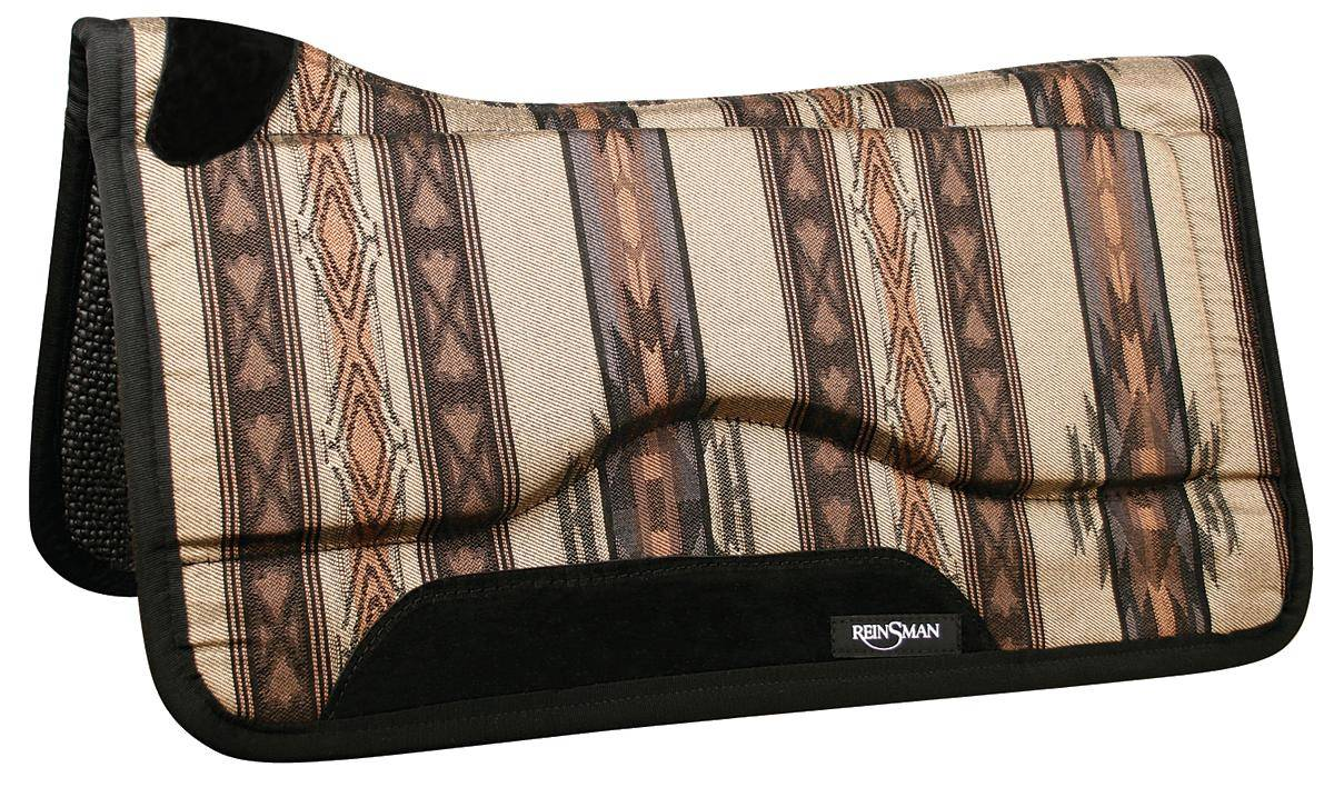 REINSMAN Contour Swayback Herculon Pad - Tacky Too - Norville/Dallas Green with Black Print