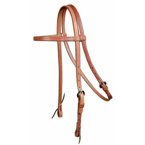 REINSMAN Browband Headstall-Harness Leather; 5/8''