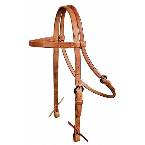 REINSMAN Browband Headstall-Harness Leather