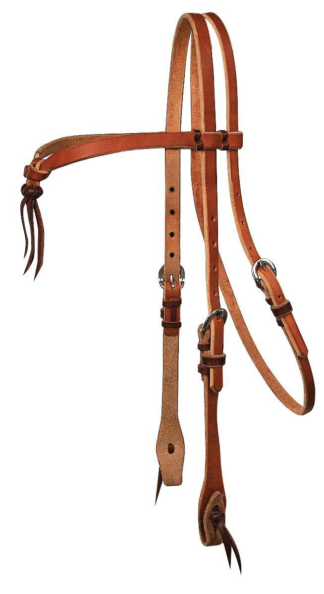 REINSMAN Tied & Twisted Cowboy Tie Front Headstall