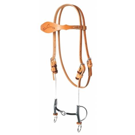 REINSMAN Sharon Camarillo Draw Gag Bridle With Signature Iron Wrapped Lifesaver