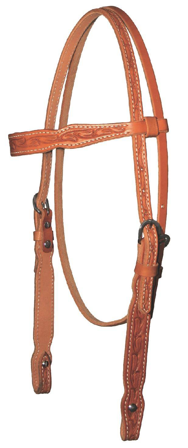 Reinsman 5/8'' Tooled Floral Browband Headstall