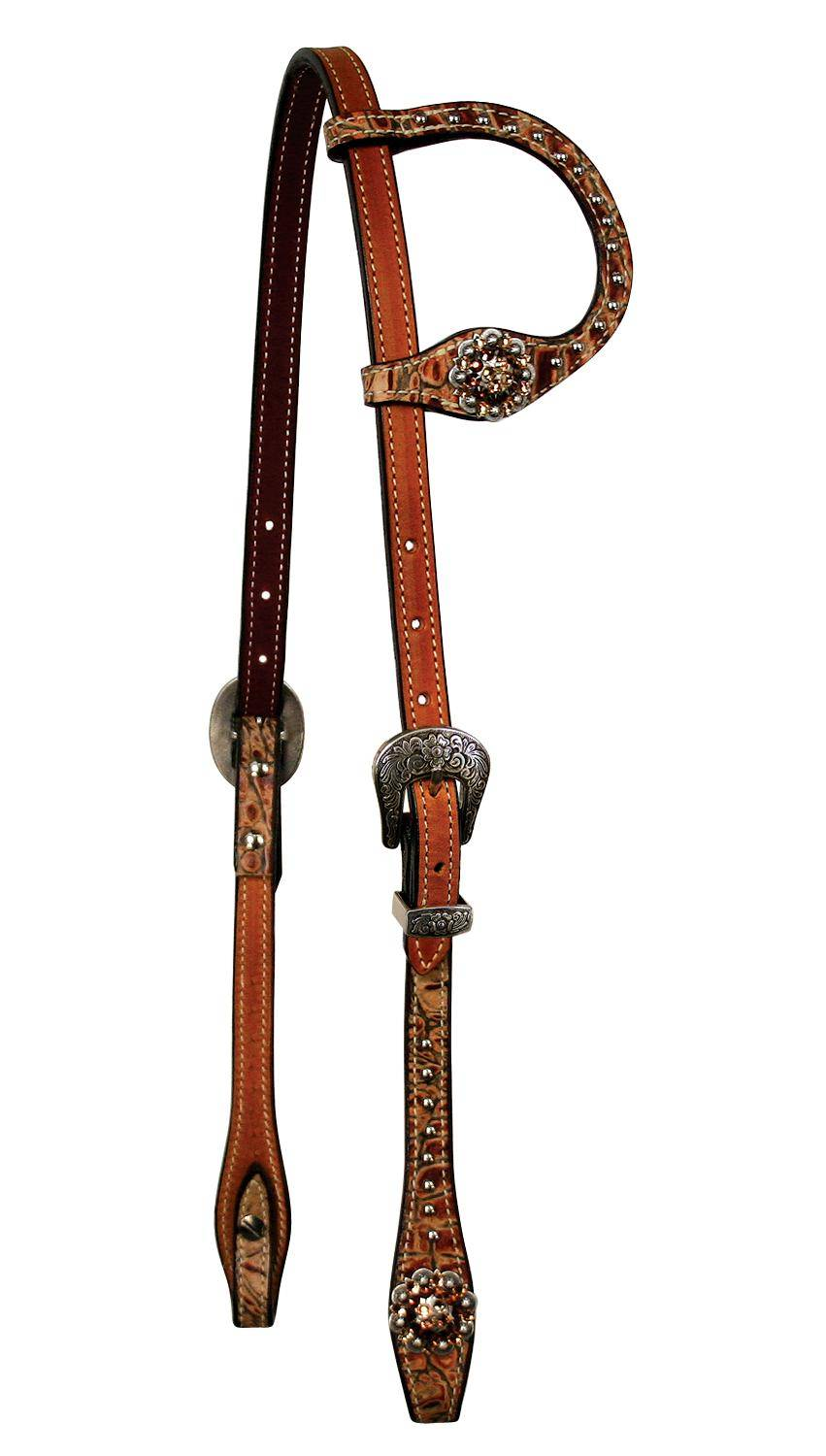 REINSMAN Molly Powell X-Treme Series - Slide Ear Headstall with Crystal Conchos
