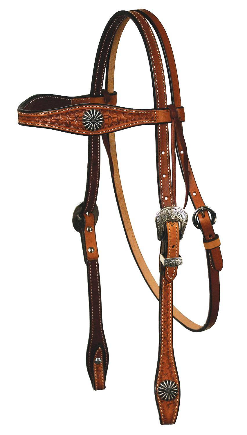 REINSMAN Molly Powell X-Treme Series - Browband Headstall With Pinwheel Conchos