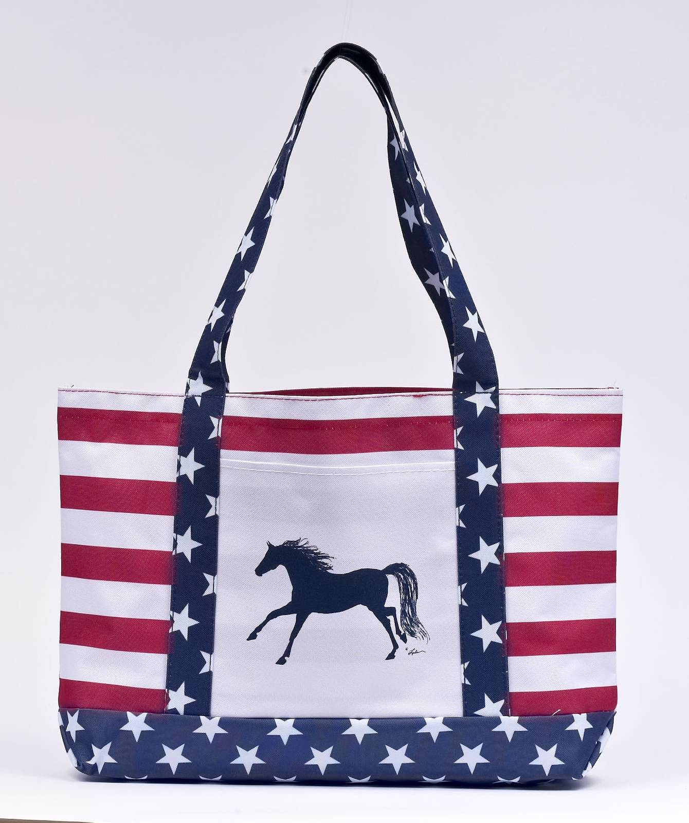 Lila Blakeslee Stars and Stripes Open Front Pocket Tote