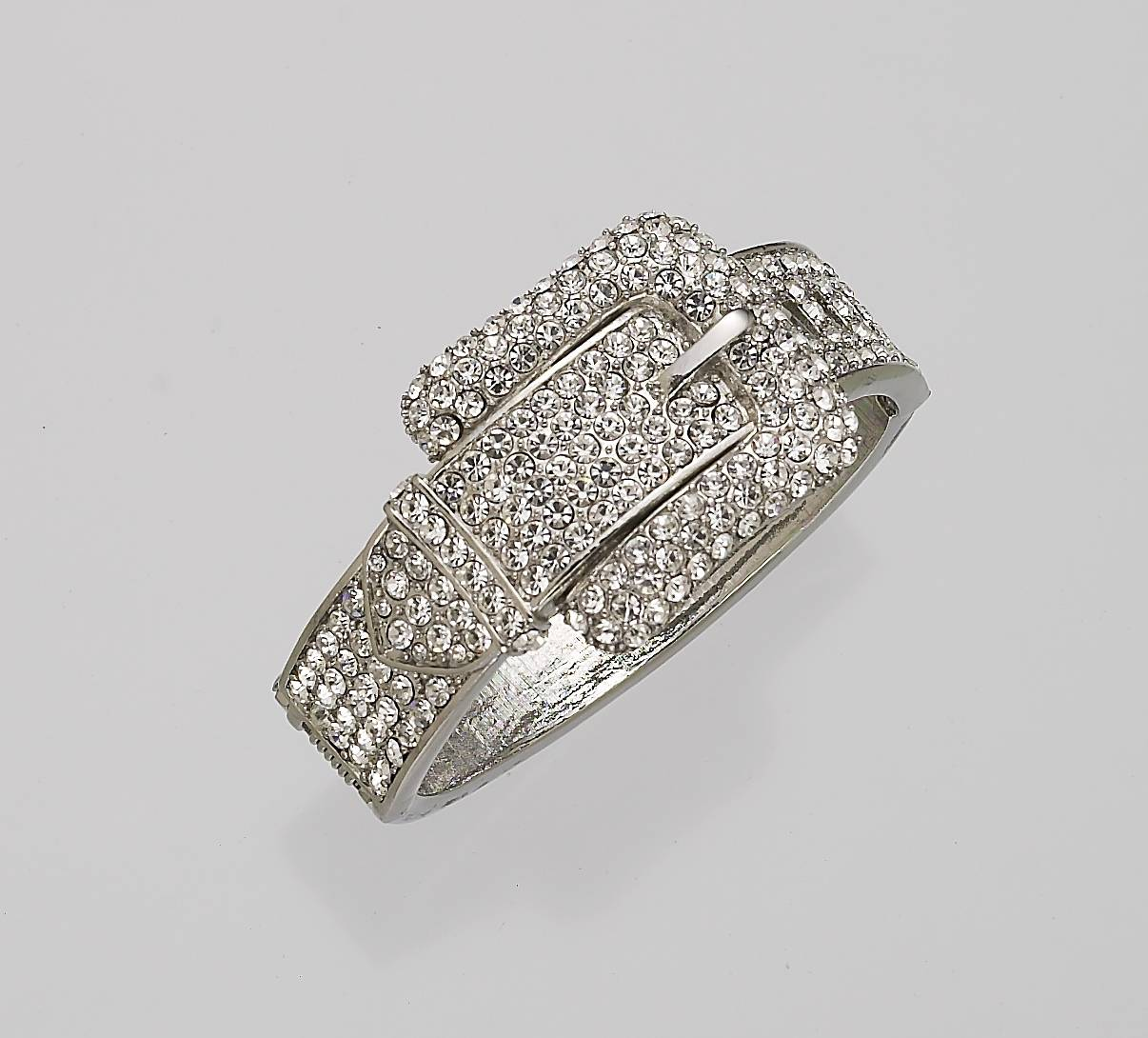 Crystal Western Belt Buckle Bracelet